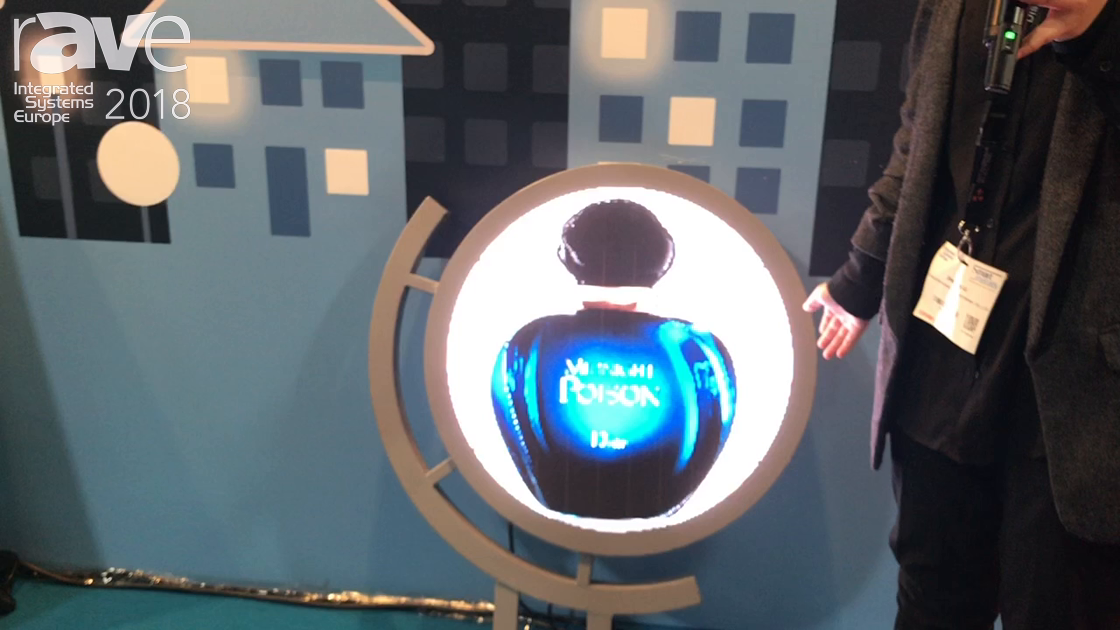 ISE 2018: Scenico Shows Off Its 2.5mm Pixel Pitch Round LED Display Sign