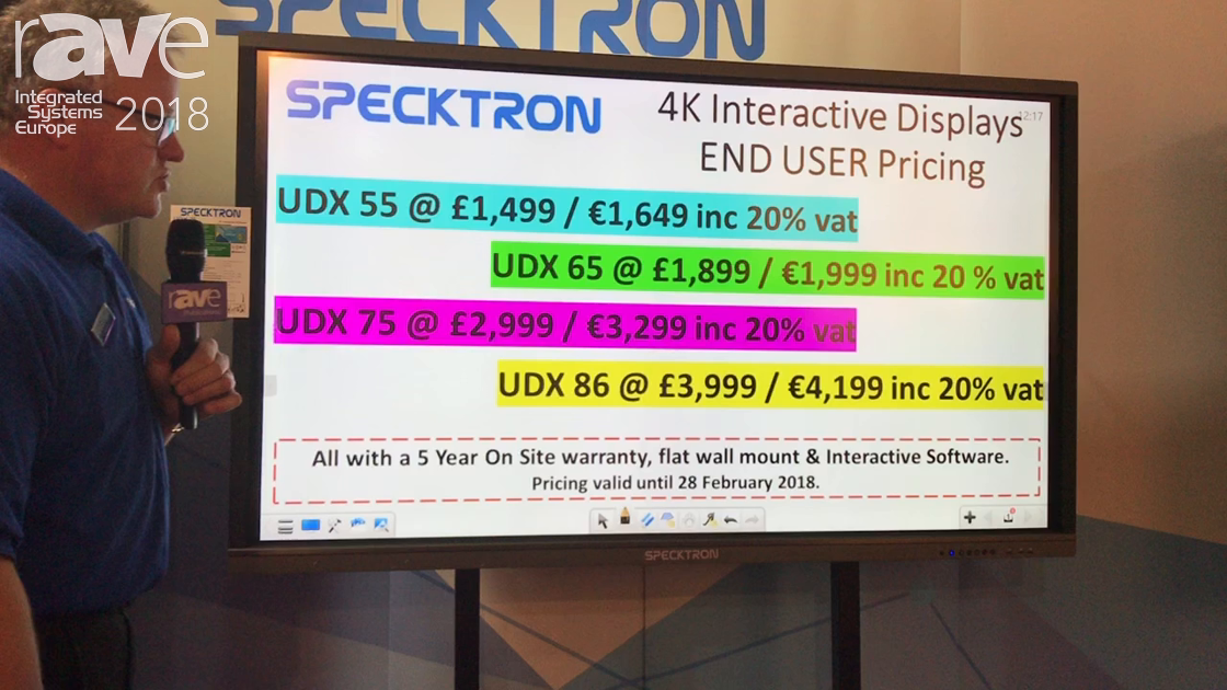 ISE 2018: Specktron Debuts New Line of UDX 4K Displays