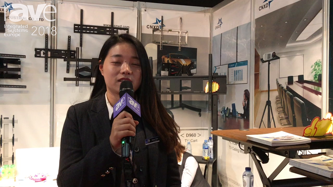 ISE 2018: Wuhu Xingdian Debuts Line of AV Monitor and Projector Mounts and Standing Desk