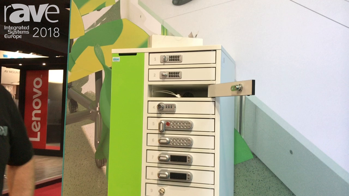 ISE 2018: zioxi Demos New Line of Charging Lockers for Smart Phones and Tablets