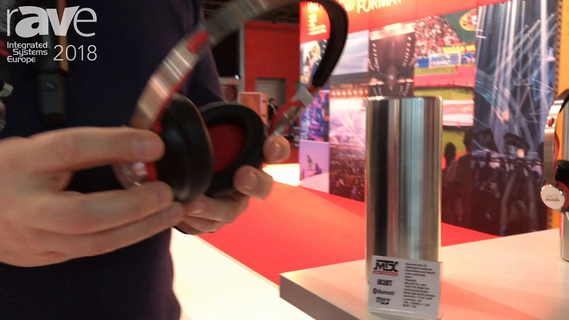 ISE 2018: MTX Audio Exhibits iX3BT Bluetooth Headphone with SD Card Port