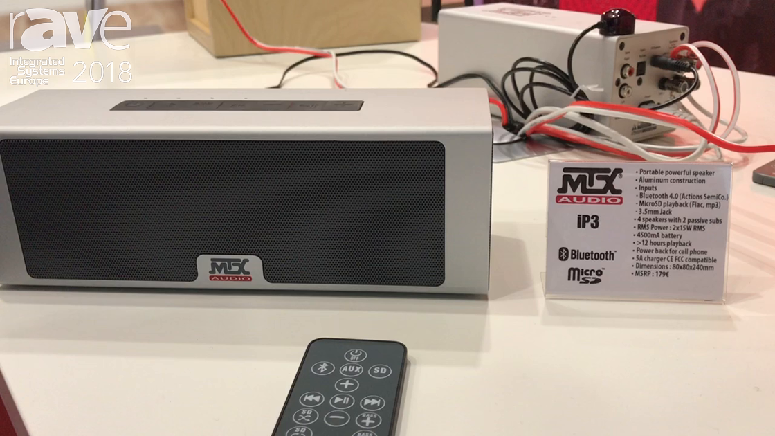 ISE 2018: MTX Audio Presents iP3 Portable Speaker