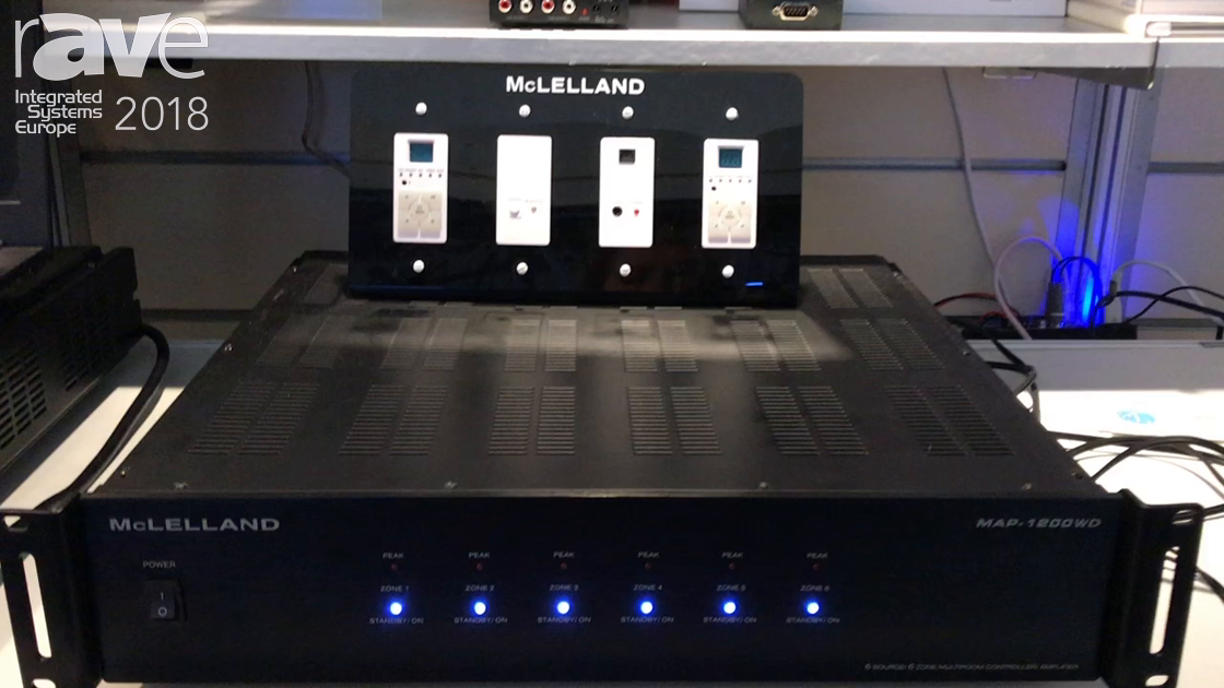 ISE 2018: McLelland Highlights MAP-1200WD Smart-Home Installation Amplifier