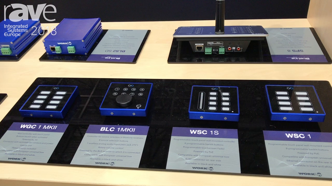 ISE 2018: Work Pro Shows Off Programmable Touch Wall-Mount Light Controllers