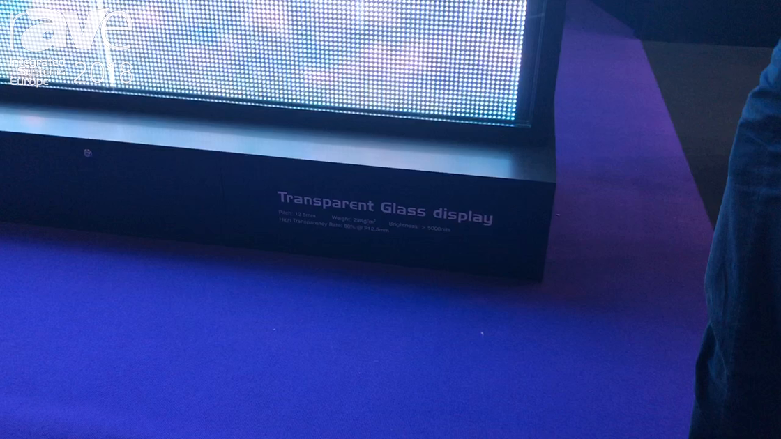 ISE 2018: Optotech Introduces Transparent 5000-nit Glass Display