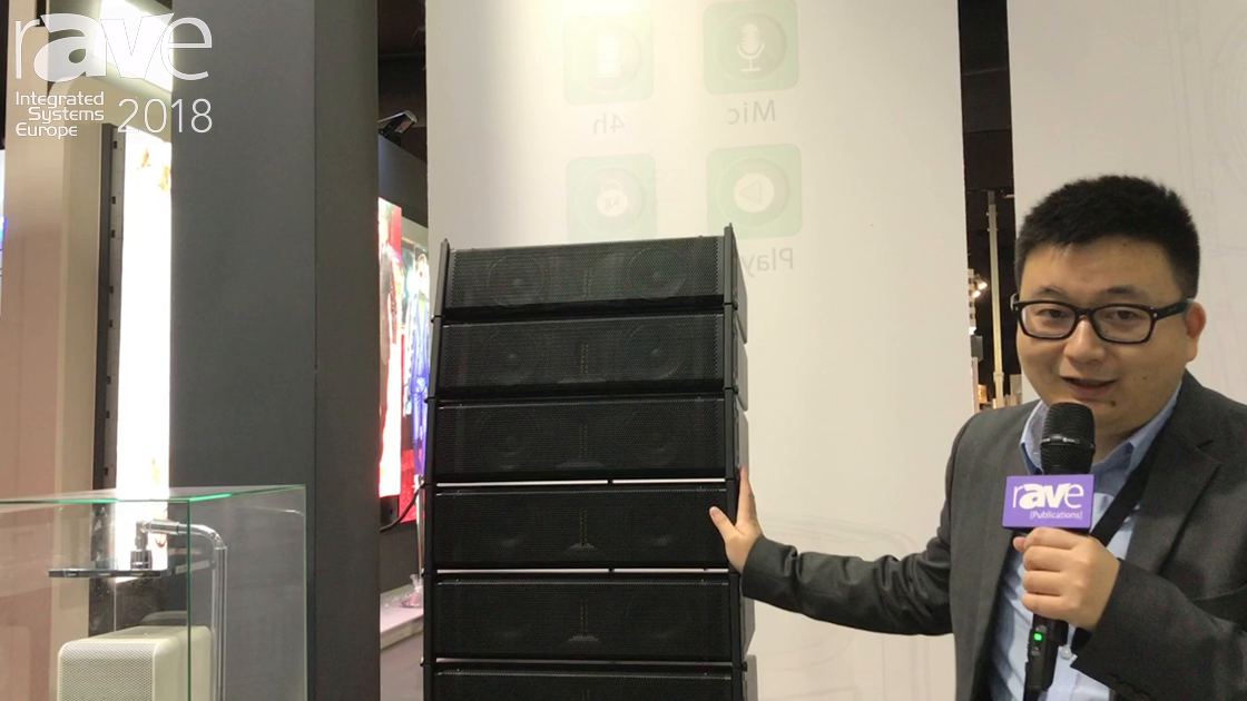 ISE 2018: Beta Three Exhibits Small Concept Line Array System