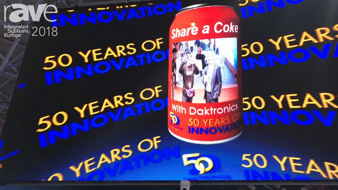 ISE 2018: Daktronics Showcases Live Video Displayed On a Coke Can