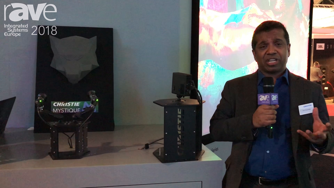 ISE 2018: Christie Demos Christie Mystique, a Tool for Automatic Projection Mapping Calculations