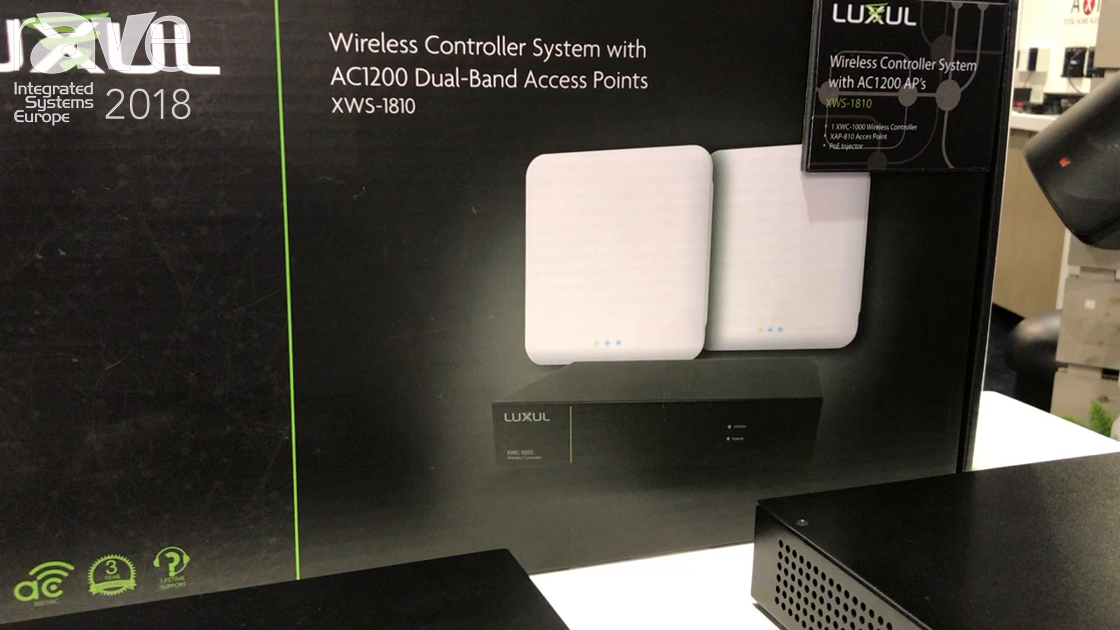 ISE 2018: Luxul Features Wirelesss Controller Systes with AC1200 Dual-Band Access Points XWS-1810