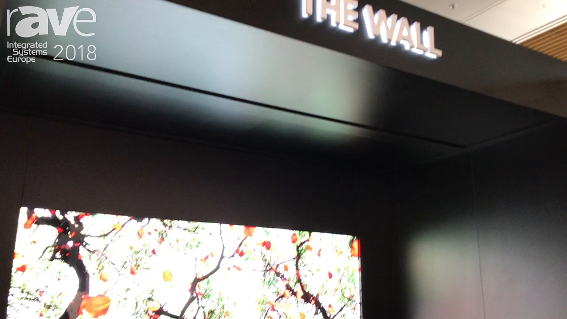 ISE 2018: Samsung Presents The Wall, a 0.84-Pixel Pitch Micro LED Video Wall