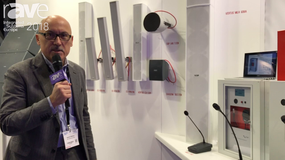 ISE 2018: FBT Elettronica Spa Presents VAIE Series Emergency PA Systems and Shadow Series Speakers