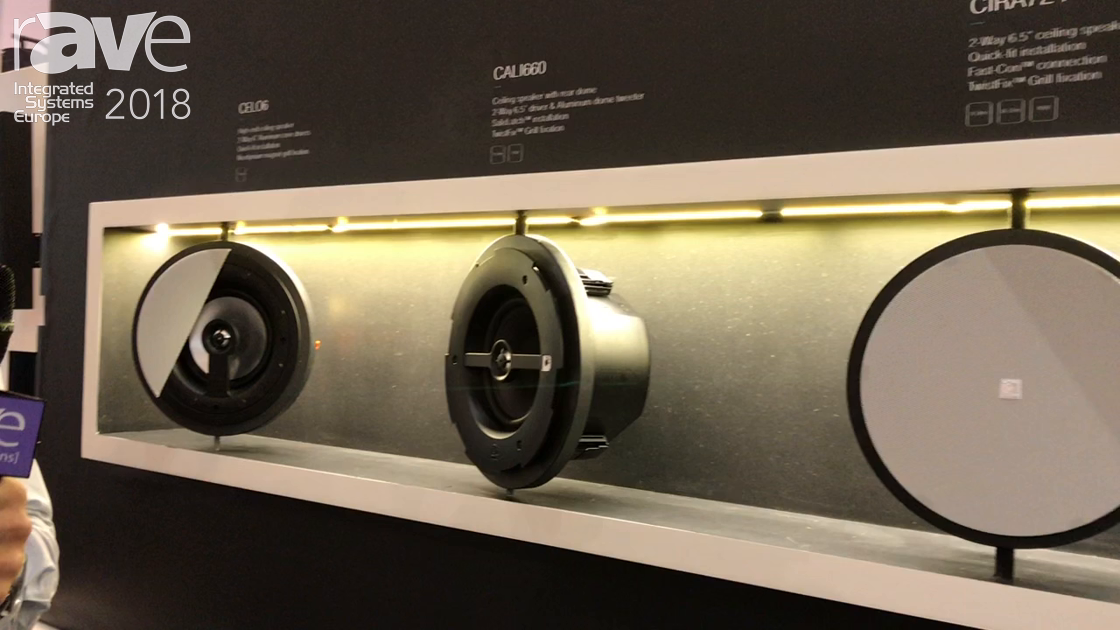 ISE 2018: AUDAC Presents Redesigned CALI and CIRA Ceiling Speaker Series