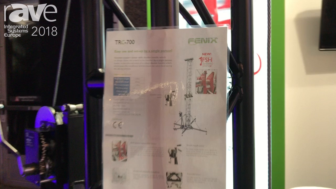 ISE 2018: FENIX Stage Talks About TRC-700 Gound Support Tower