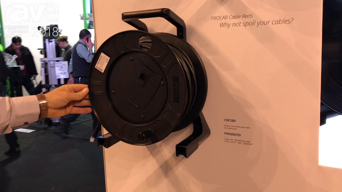 ISE 2018: Procab Shows PRX656 Cable Reel Networking Cable