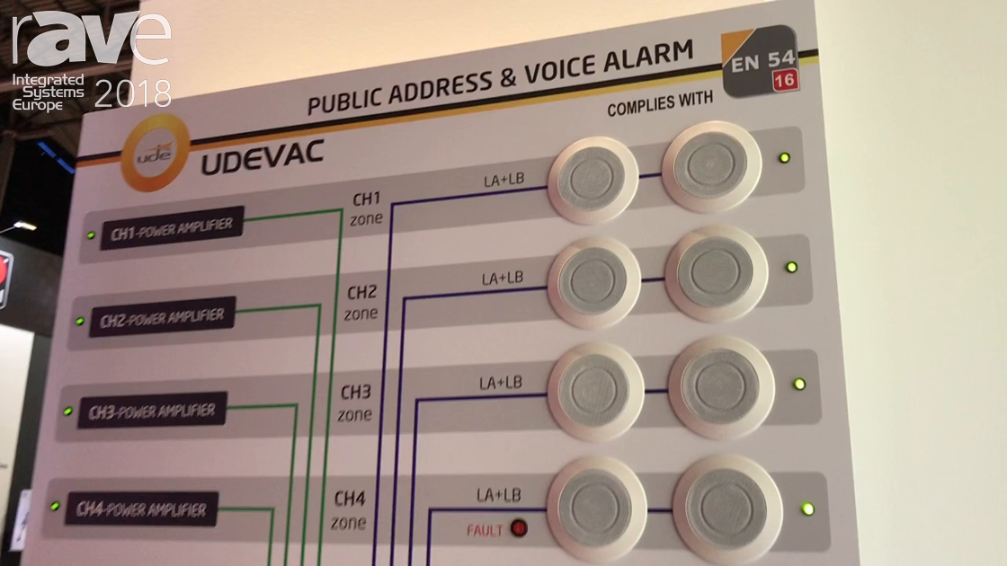 ISE 2018: UDE Promotes SLA-112 Public Address and Voice Alarm System