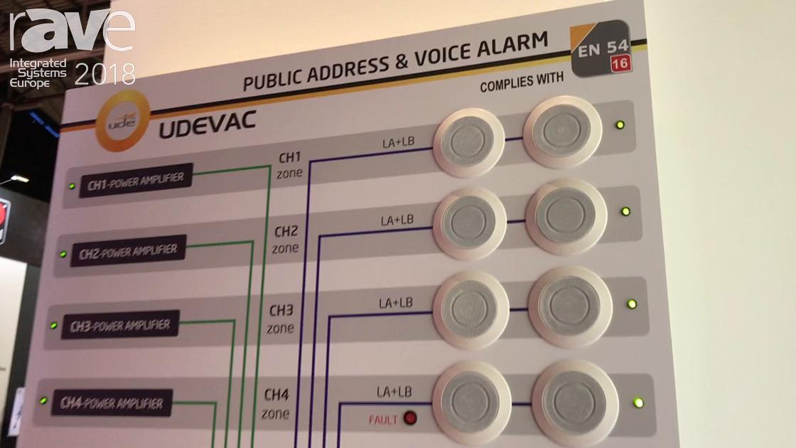 ISE 2018: UDE Promotes SLA-112 Public Address and Voice Alarm System