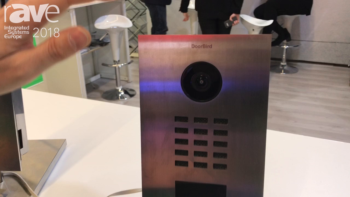 ISE 2018: DoorBird Highlights Its Video Doorbell With Smart Phone Push Notifications