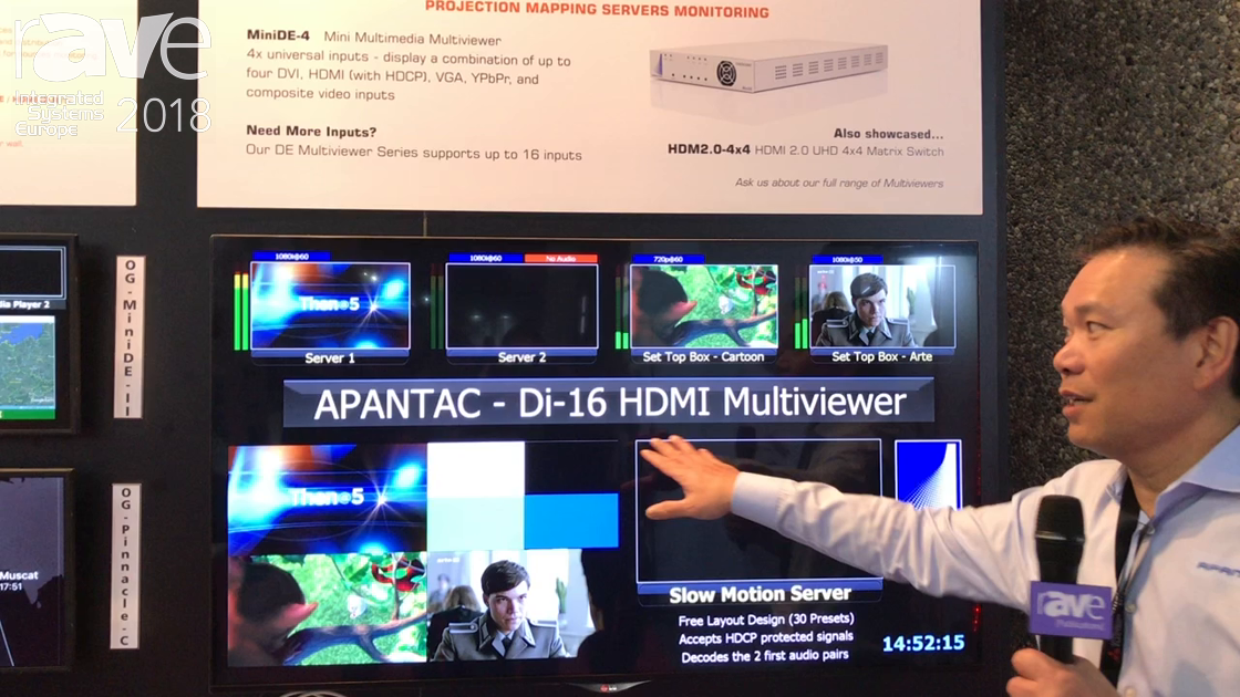ISE 2018: Apantac Exhibits Di-16 HDMI Multiviewer Video Monitoring System