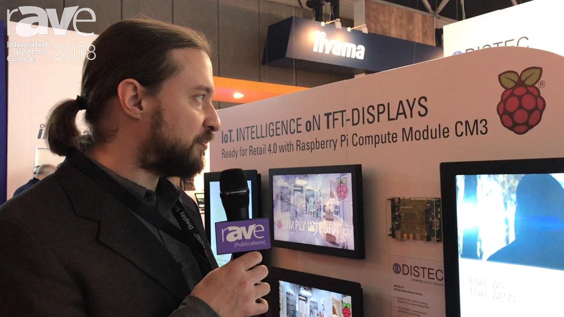 ISE 2018: Distec Exhibits Infobeamer Digital Signage Solution Running on Raspberry Pi