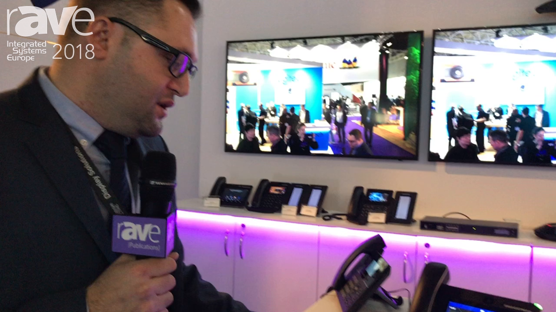 ISE 2018: Grandstream Networks Exhibits GXV3370 Android Phone