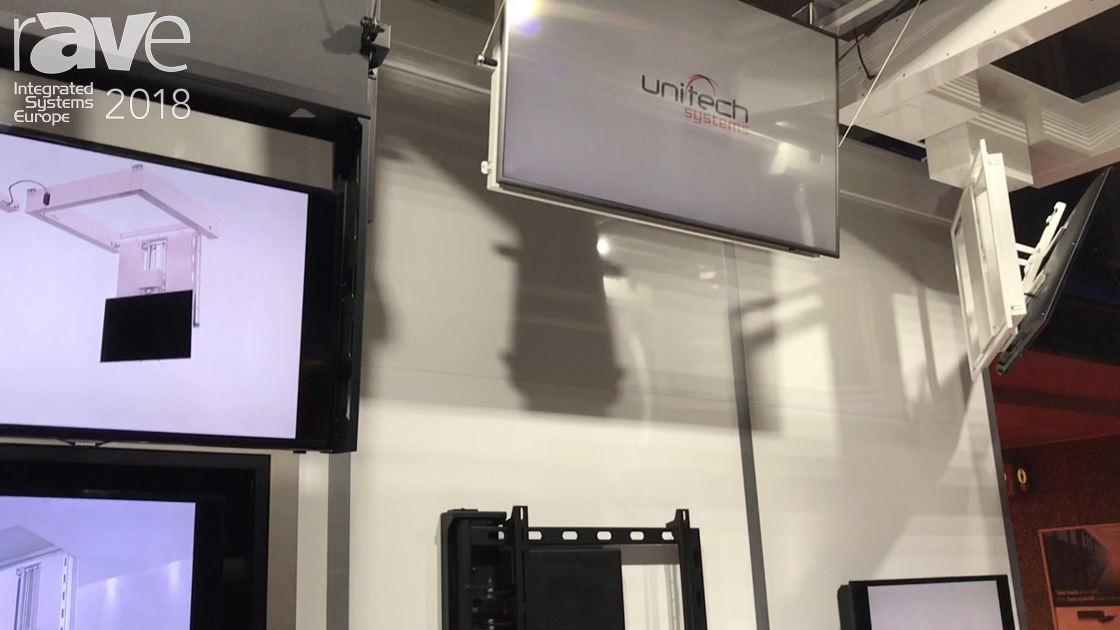 ISE 2018: Unitech Systems Introduces Slim Ceiling Lift for Display in Limited-Space Applications