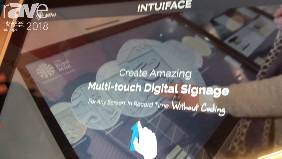ISE 2018: IntuiLab Demonstrates INTUIFACE Platform Digital Signage Applications Without Coding