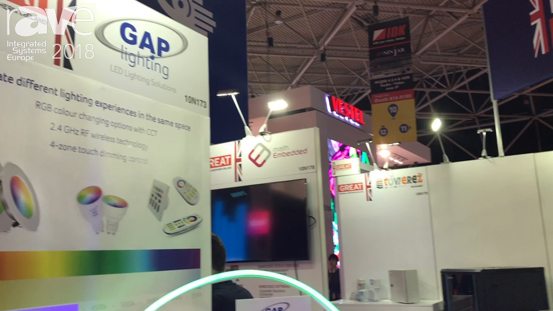 ISE 2018: GAP Lighting Shows RGB Color Changing Options With CCT Over 2.4 GHx Wireless Technology