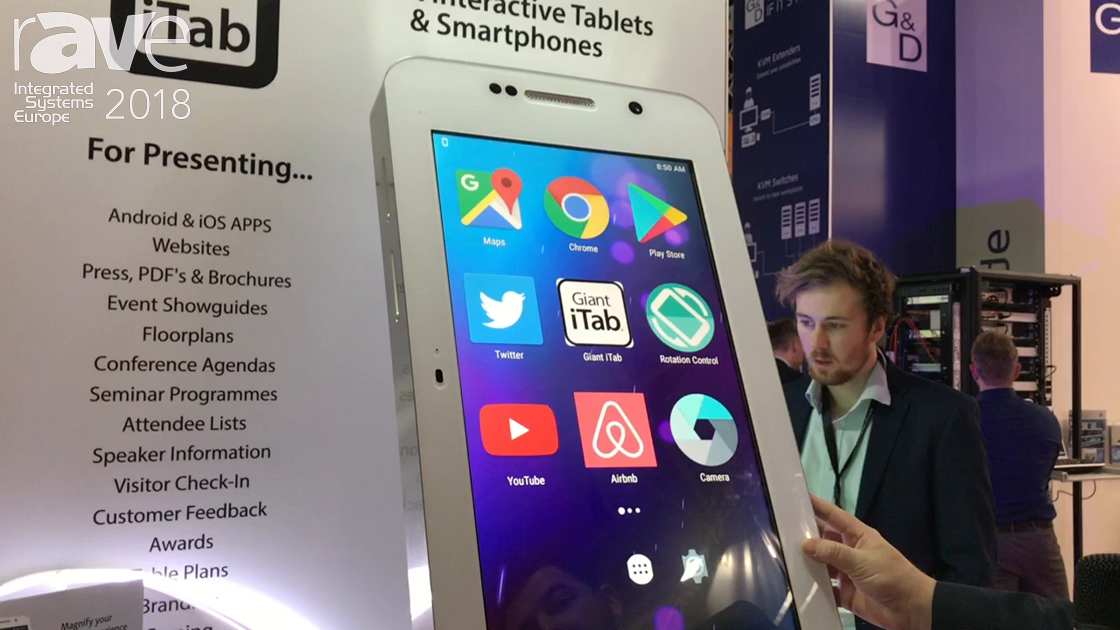 ISE 2018: Giant iTab Features 27″ Smartphone for Large Display Mobile Application Uses