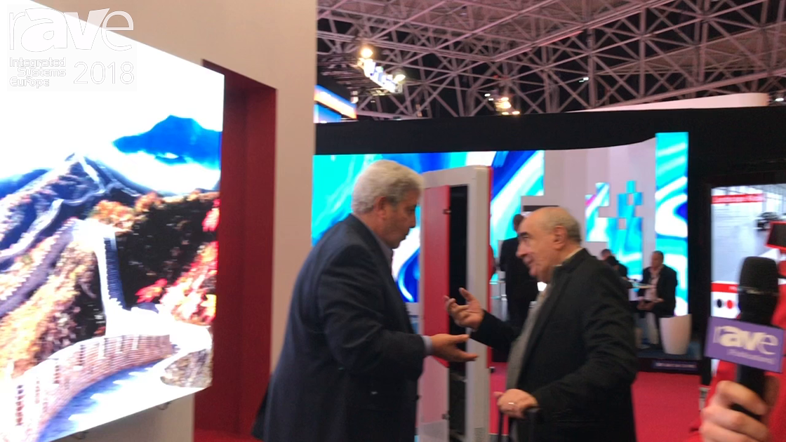 ISE 2018: Peerless-AV Discusses Full Service Unilumin DS-LED-P Pop-Out Wall Mount Solution