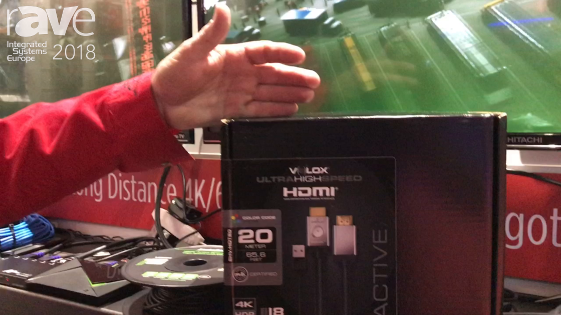 ISE 2018: Metra Home Theatre Demonstrates Velox Ultra High Speed HDMI Cable