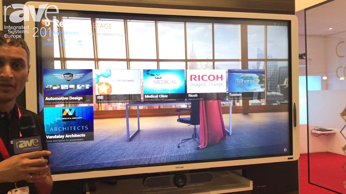 ISE 2018: Ricoh Exhibits Reactive Whiteboard for Real Time Annotation and Document Sharing