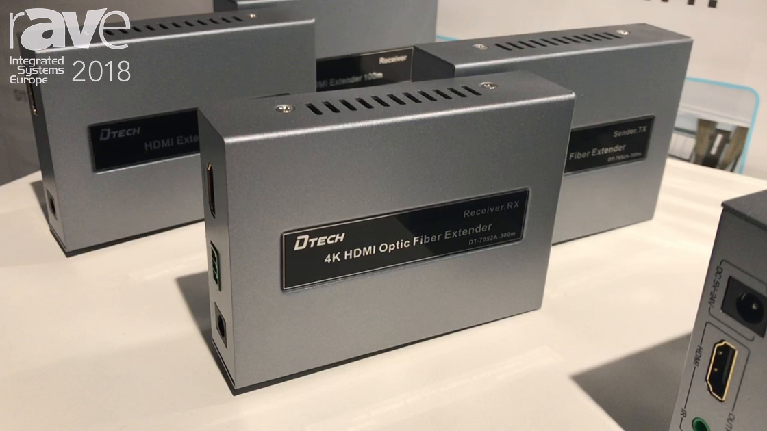 ISE 2018: GuangZhou Dtech Announces 4K HDMI Optic Fiber Extender And Wireless HDMI 50M Extender