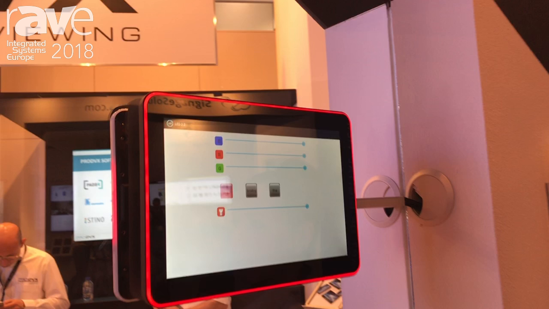 ISE 2018: ProDVX Europe Features Android-Based 10 Inch DSK Display For Room Signage