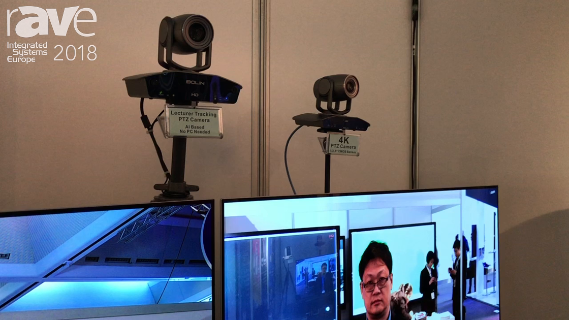 ISE 2018: Bolin Technology Shows Off Its Lecturer Tracking PTZ Camera