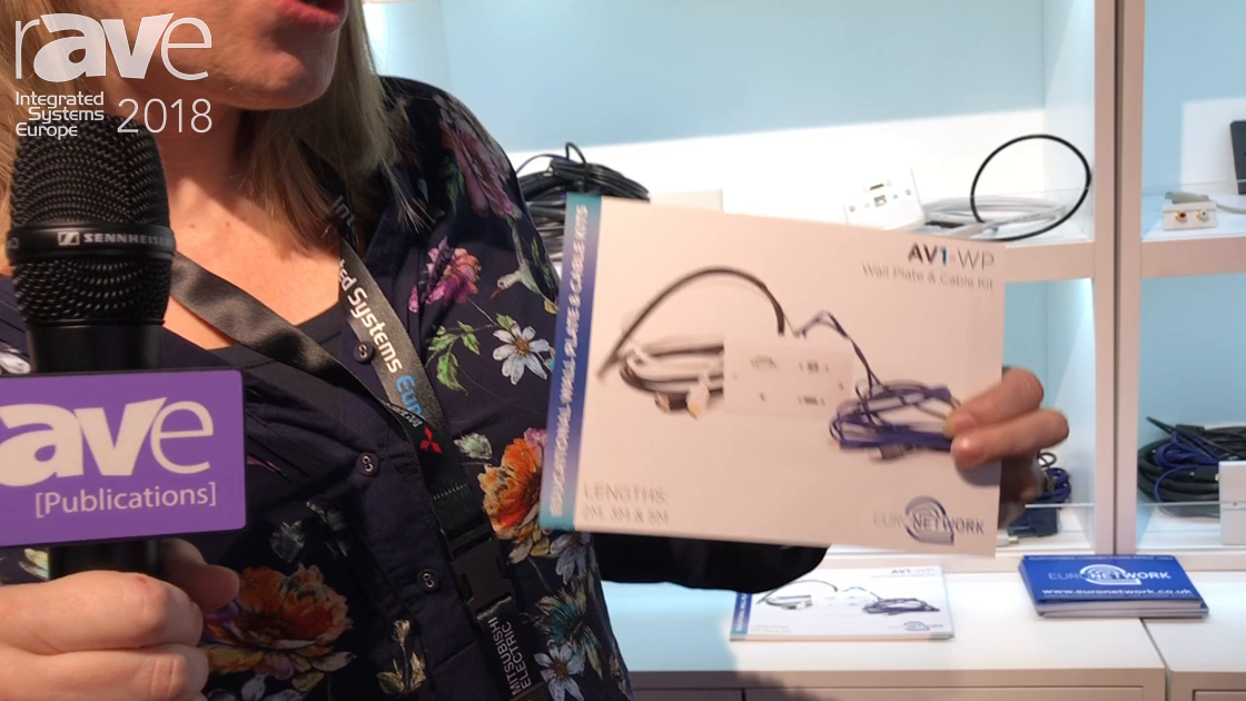 ISE 2018: EuroNetwork Debuts AV1-WP Wall Plate and Cable Kit