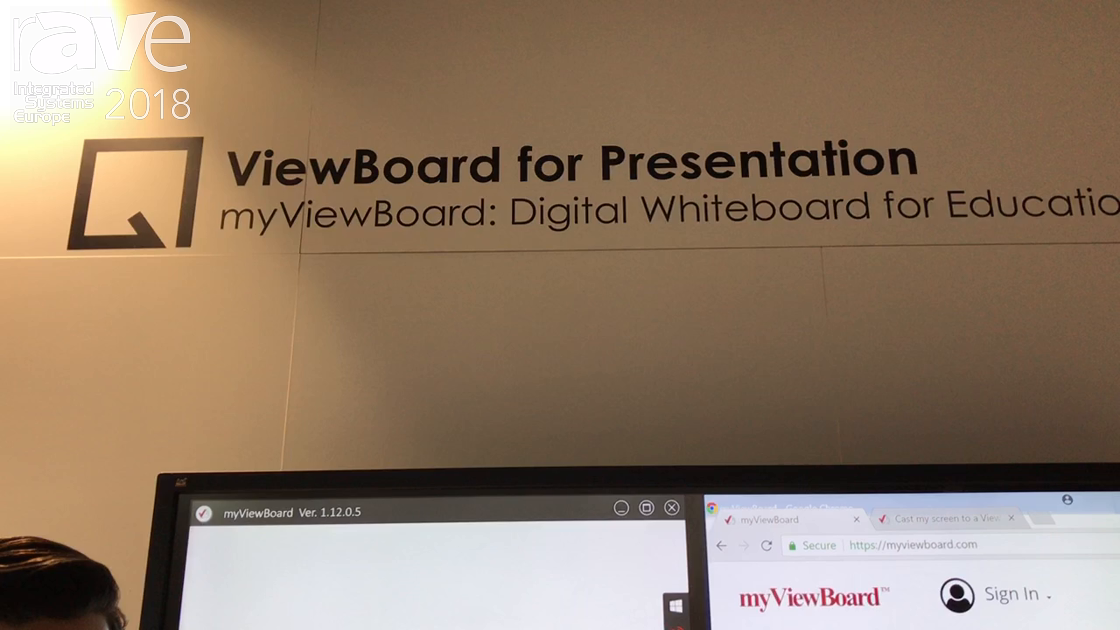 ISE 2018: ViewSonic Features myViewBoard Annotation Software For Interactive Whiteboard