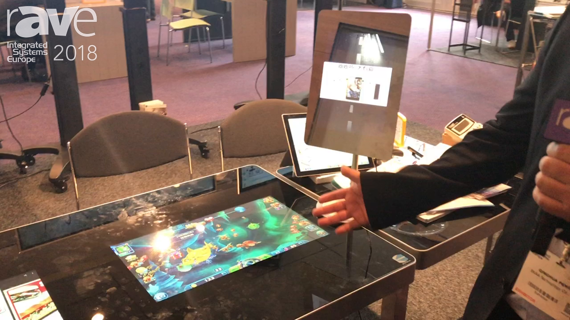 ISE 2018: EKAA Technology Demonstrates Touchtable For Restaurant Use