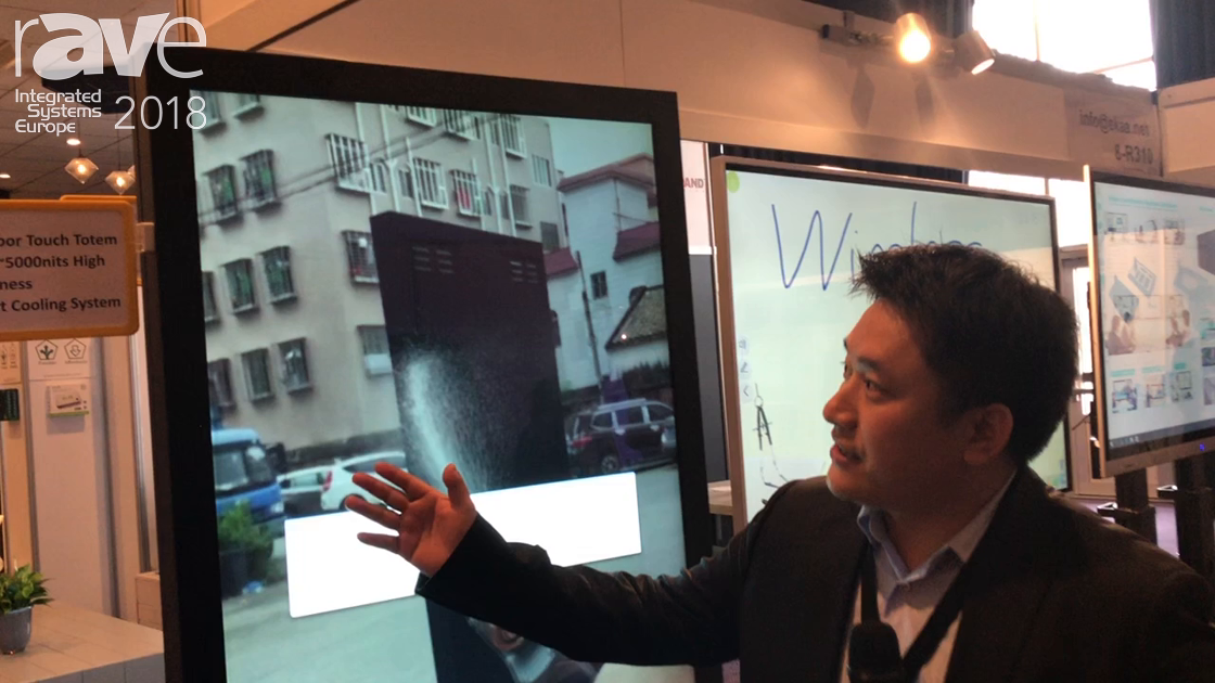 ISE 2018: EKAA Technology Shows Off 3000-nit Outdoor Touchscreen For Digital Signage