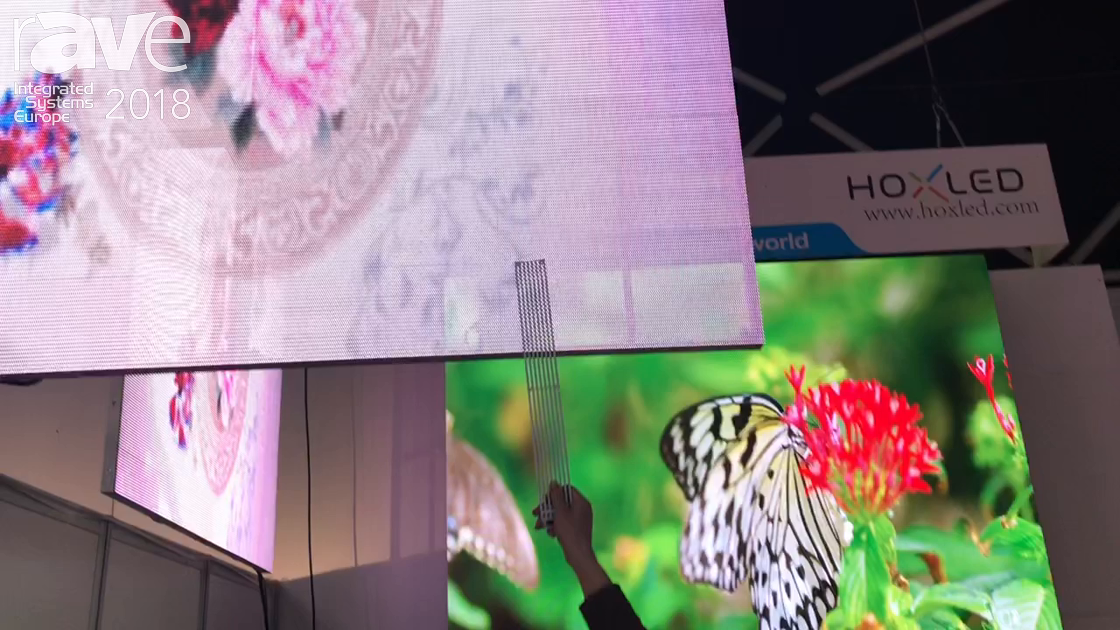 ISE 2018: Shenzhen HOXLED Demos Transparent GOB LED Display for Retail Applications