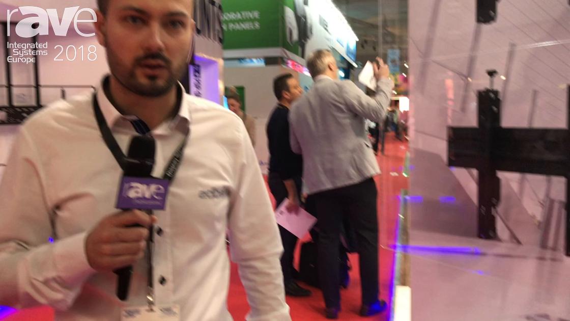 ISE 2018: Edbak Presents VWTA2247-L Video Wall Trolley