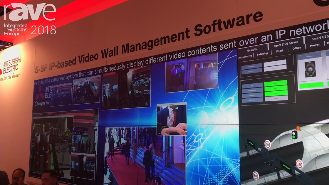 ISE 2018: Mitsubshi Electric Shows S-SF IP-Based Video Wall Management Software for Control Rooms