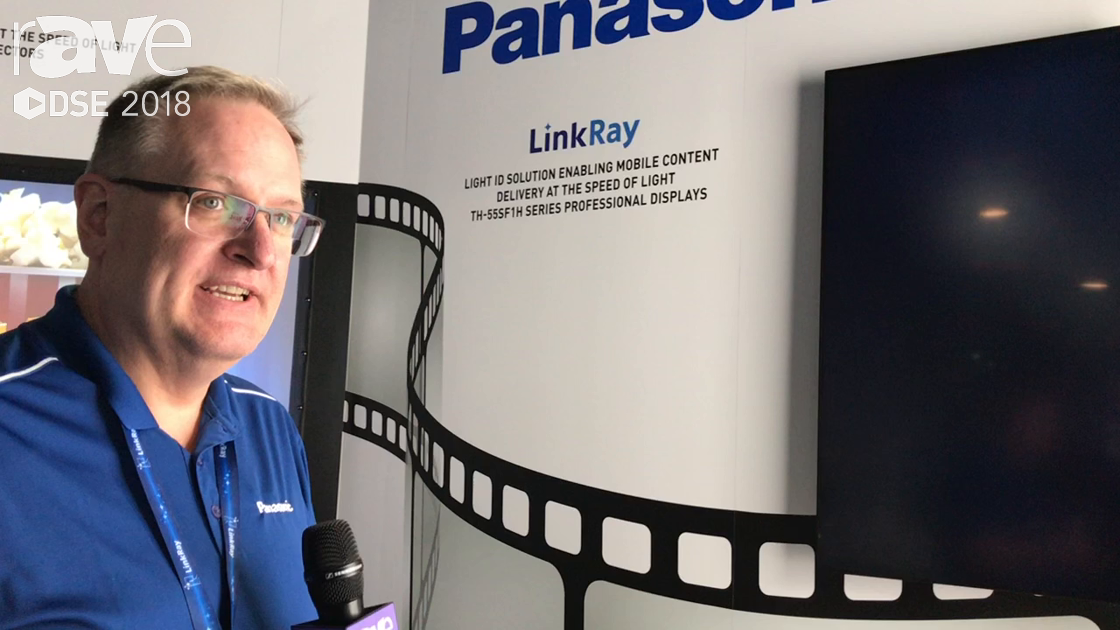DSE 2018: Panasonic Demos LinkRay, a Light ID Solution for Mobile Content Delivery of Data