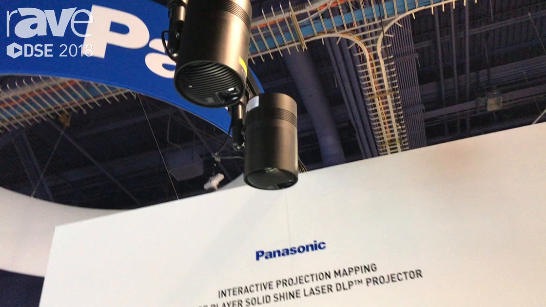 DSE 2018: Panasonic Demos Space Player Laser DLP Projector, Interactive Projection Mapping Solution