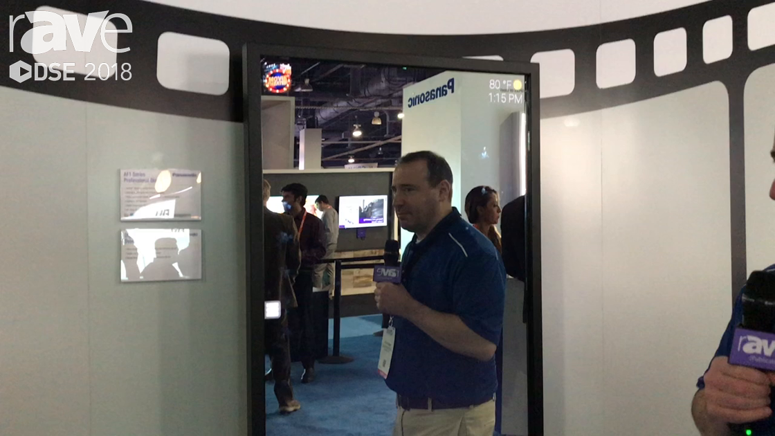 DSE 2018: Panasonic Shows Interactive Mirror, With AF1 Series Display and Digital Mirror Overlay