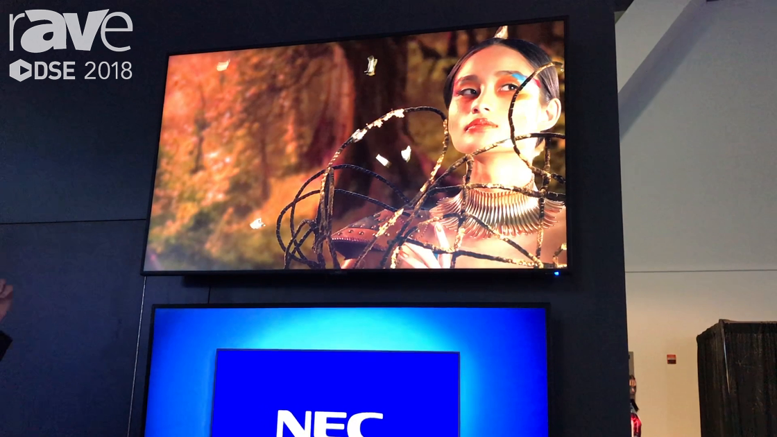 DSE 2018: NEC Display Shows C Series Thin-Depth Commercial Large Format Displays