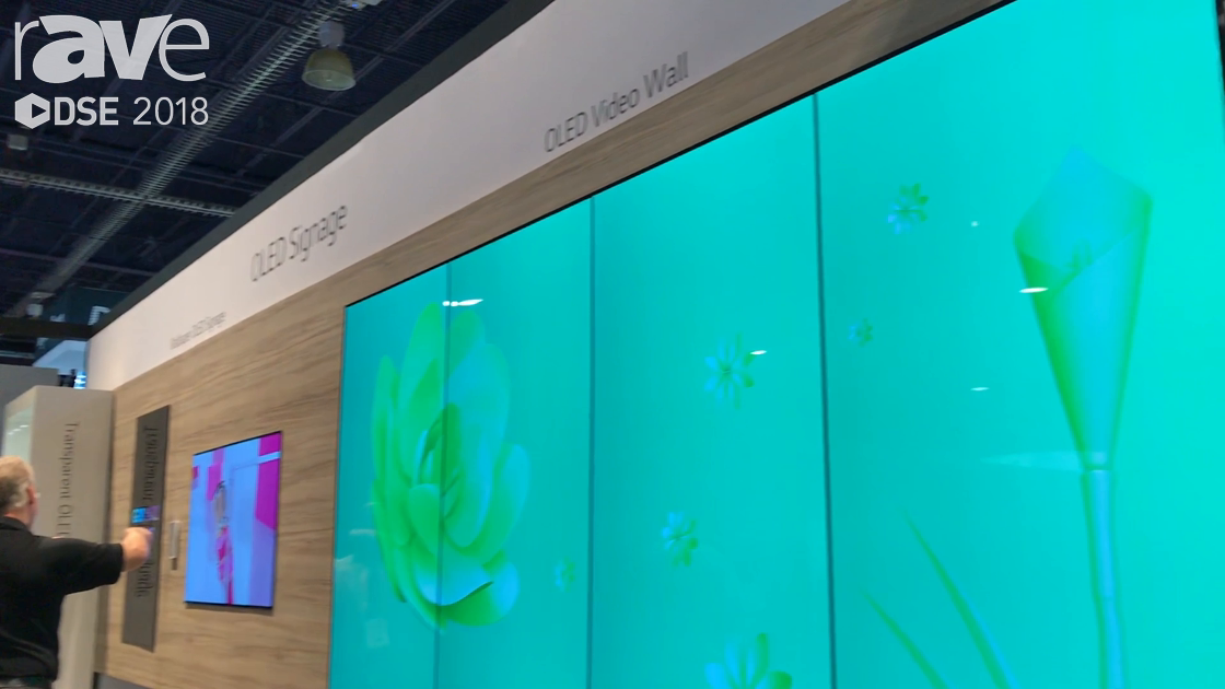 DSE 2018: LG Demos Its 65EV5 Wallpaper OLED Display in a Video Wall