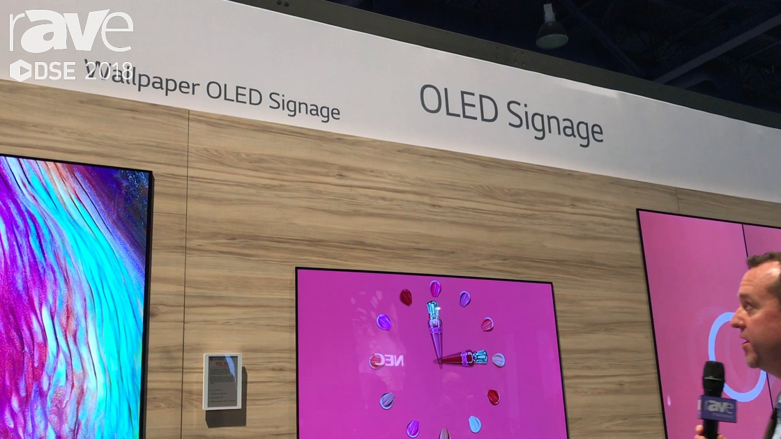 DSE 2018: LG Showcases Its 55EJ5D Wallpaper OLED Signage Display