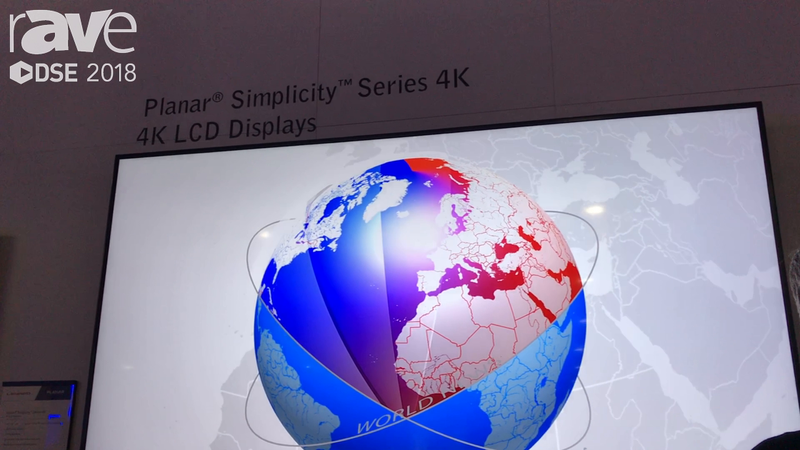 DSE 2018: Leyard Planar Features Its Simplicty Series of 4K LCD Displays