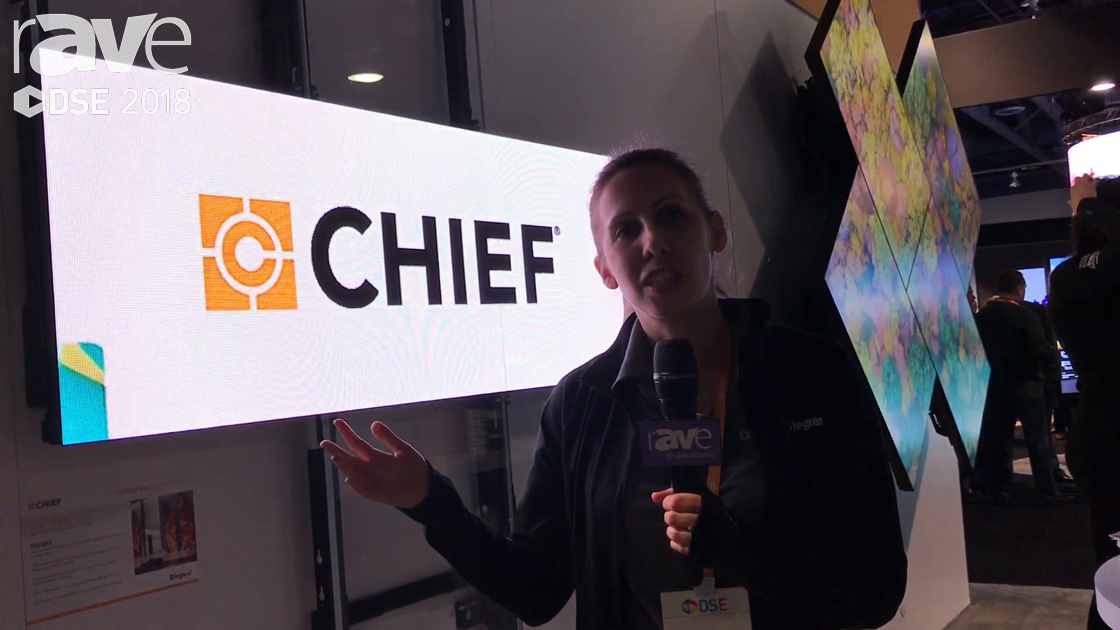 DSE 2018: Chief Manufacturing Shows Off Its TiLED Series for Creative LED Video Walls