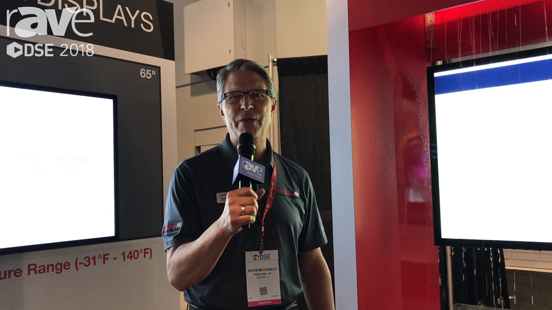 DSE 2018: Peerless-AV Shows Off Itx Xtreme High Bright Outdoor Display With Optical Bonding